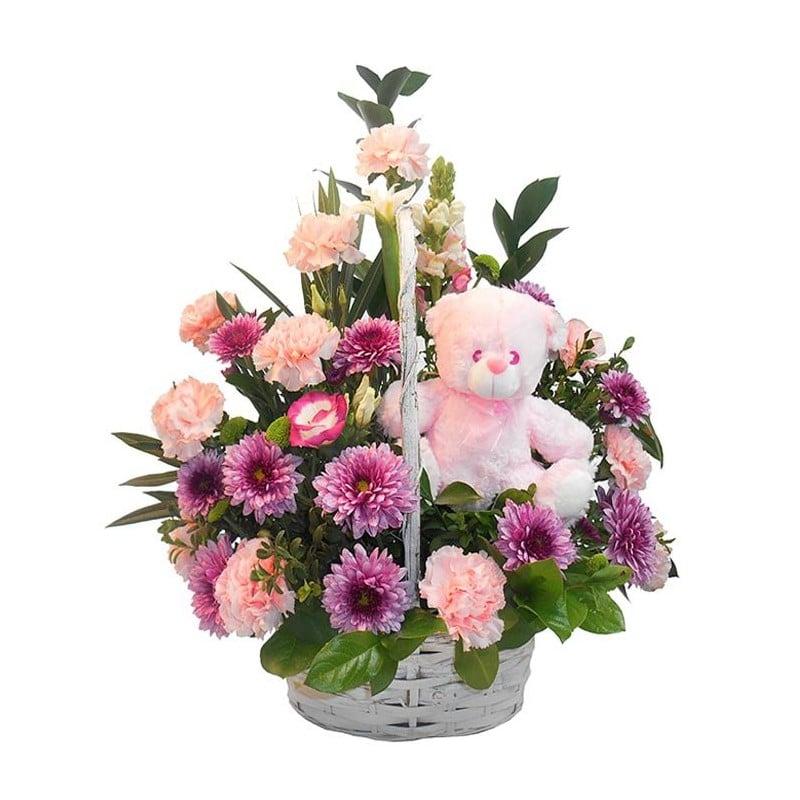 Centro de flores variadas Cuna