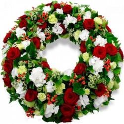 Corona de flores Hiedra