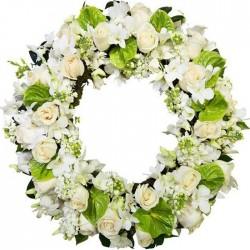 Corona de flores Bicolor
