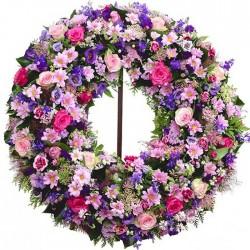 Corona de flores Añil