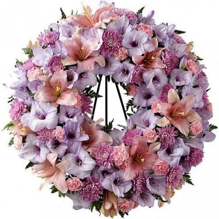 Corona de flores Omicron