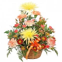 Centro de flores variadas Vereda