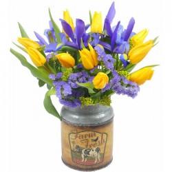 Ramo de tulipanes e Iris