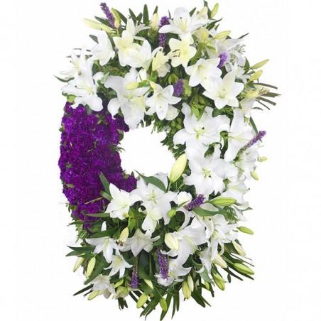 Corona de flores Cristal