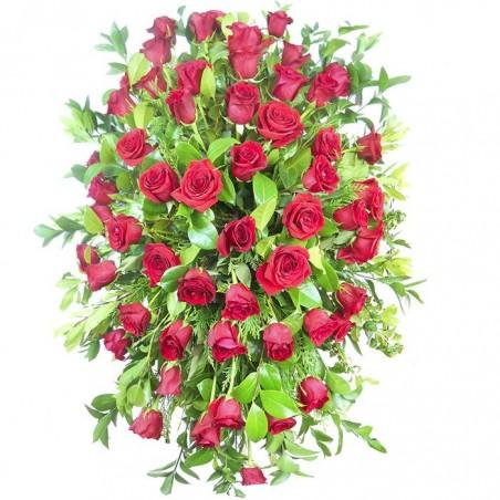 Palma de rosas funeral
