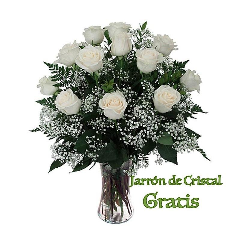 12 Rosas blancas Premium