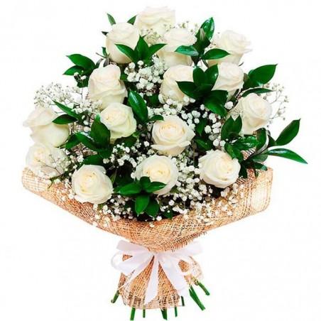 15 Rosas blancas Tc