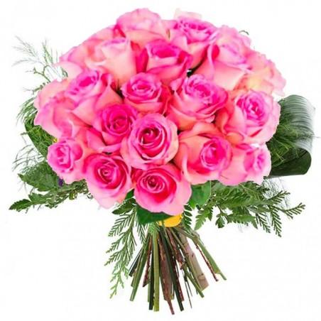 12 Rosas rosa Premium