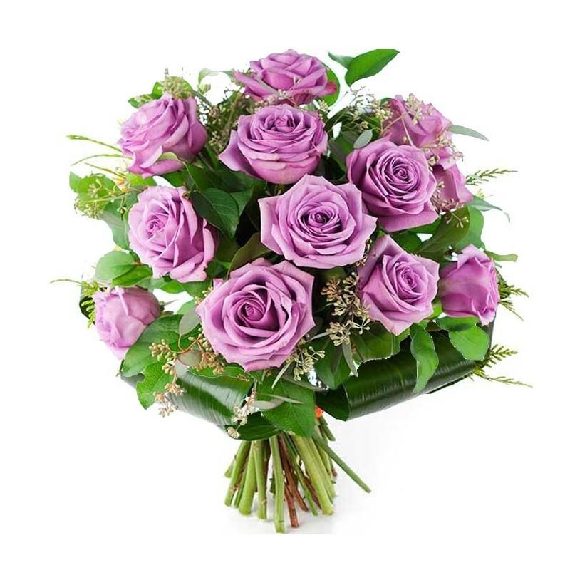 12 Rosas Lavanda Premium