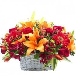 Cesta de flores Bombay