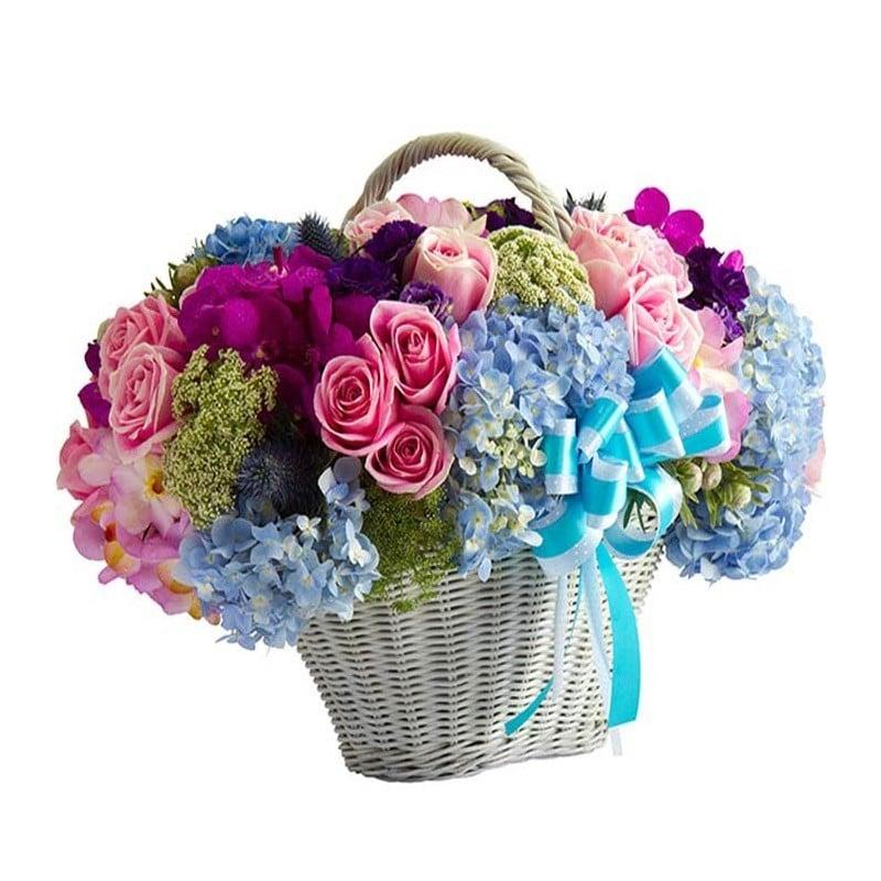 Cesta de flores Guadarrama.