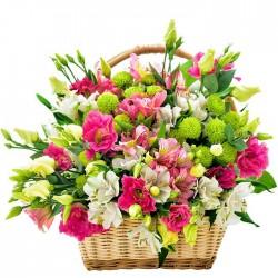 Cesta de flores Esmeralda