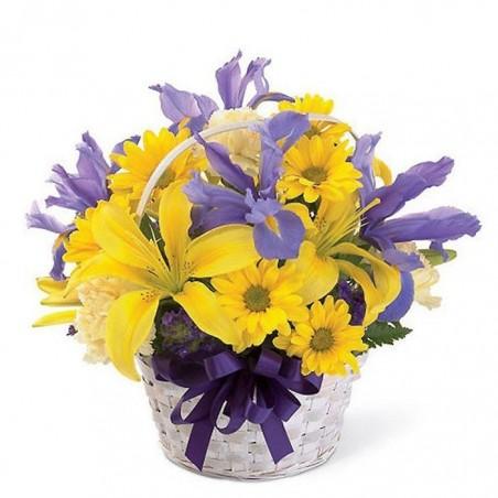 Centro de flor Iris.