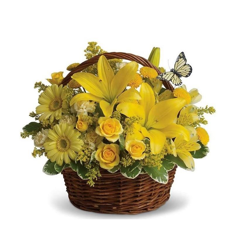 Cesta de flores Golden