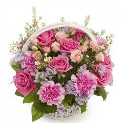 Cesta de flores Chamberí