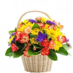 Cesta de flores campestre