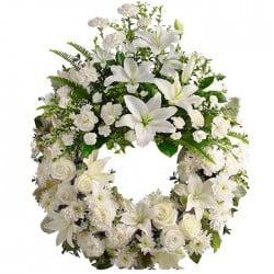 Corona de flores Albia
