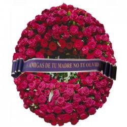 Corona funeraria de Rosas Rojas