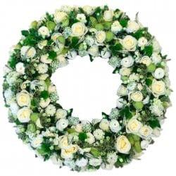 Corona de rosas bicolor