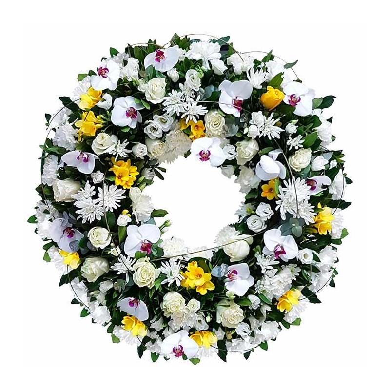 Corona de flores Bruma