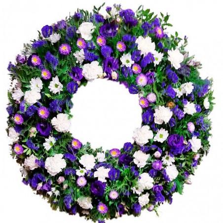 Corona de flores Púrpura.