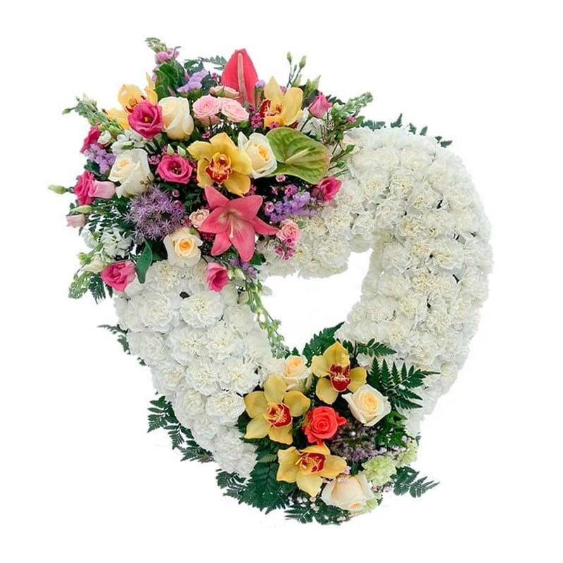 Corona de flores Amor