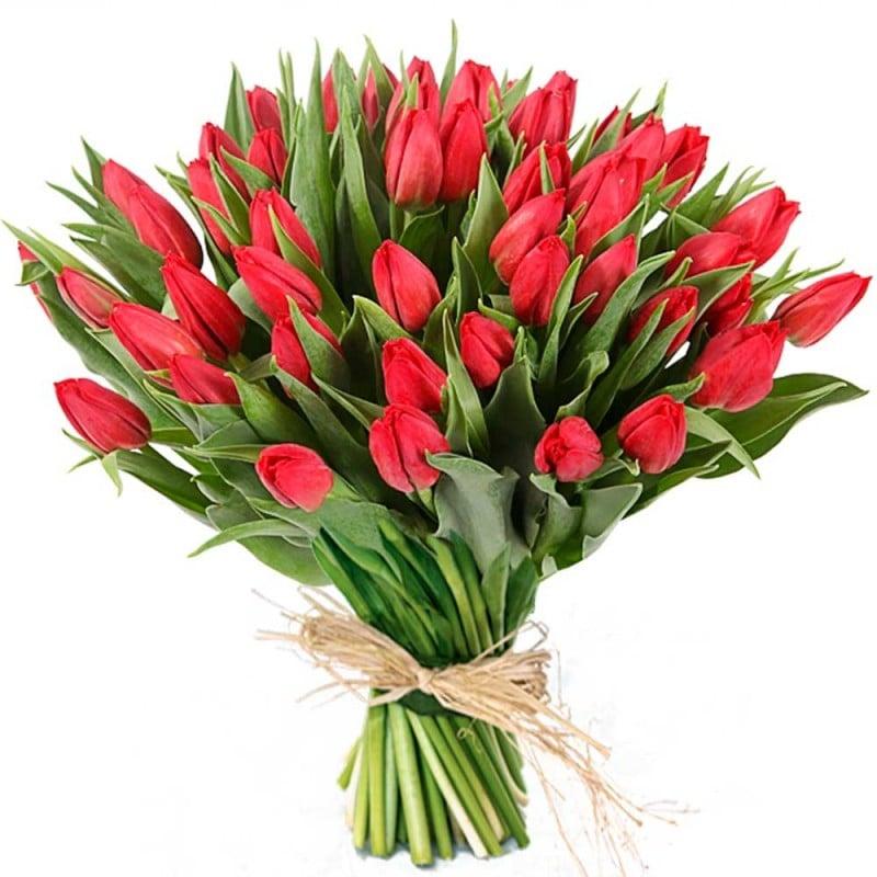 Ramo de tulipanes rojos a domicilio en Madrid.