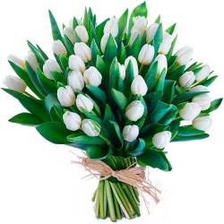 Ramos de tulipanes blancos a domicilio en Madrid.