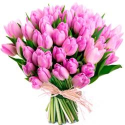 Tulipanes de color rosa a domicilio en Madrid.