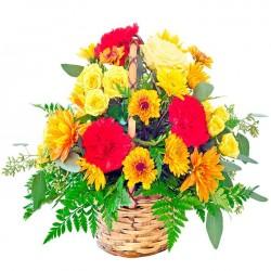 Arreglo de flores primaveral Ámbar