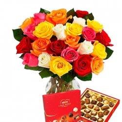 20 Rosas de colores TC y Bombones