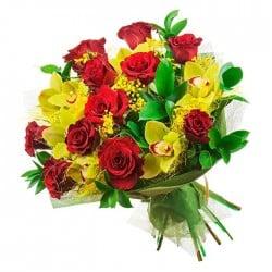 Ramo de Orquídeas y Rosas