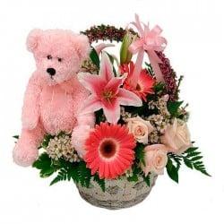 Centro de flores para nacimiento Nenuco