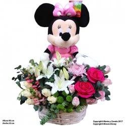 Cesta de flores Minnie